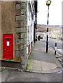 SS9398 : King George VI postbox in a shop side wall, Tynewydd by Jaggery