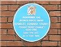 SJ8397 : Blue Plaque to Bonny Prince Charlie by Gerald England