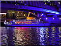 SJ8097 : Illuminated Trip Boat under the Lowry Bridge by David Dixon