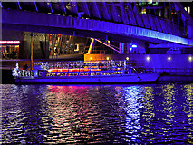 SJ8097 : Illuminated Trip Boat under the Lowry Bridge by David Dixon
