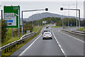 SH2580 : The North Wales Expressway approaching Junction 2  near Holyhead by David Dixon