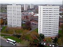 SP0686 : Tower blocks in Birmingham by Roger  Kidd