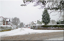 SO9095 : Snowing in Muchall Road, Penn, Wolverhampton by Roger  Kidd