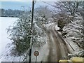 SO8695 : Snowy Penstone Lane by Gordon Griffiths