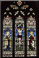 SK7081 : Stained glass window, St Swithun's church, Retford by Julian P Guffogg