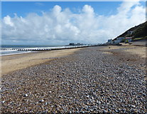 TG2142 : View east along the beach at Cromer by Mat Fascione