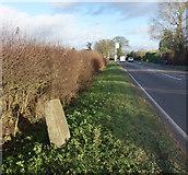 SP8307 : Milestone by Aylesbury Road by Des Blenkinsopp