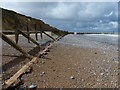 TG1843 : Sea defences on the beach near West Runton by Mat Fascione