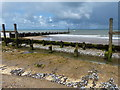 TG1743 : Sea defences near West Runton by Mat Fascione