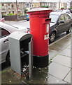 SS9498 : Open Royal Mail drop box, Bute Street, Treherbert by Jaggery