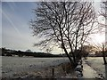 NZ1647 : Looking along the footpath beside the A691 by Robert Graham