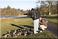 NT7754 : Feeding the ducks by Walter Baxter