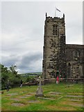 SJ9995 : Abseiling at Mottram Church by Gerald England