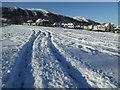 SO7844 : Wheel tracks in the snow by Philip Halling