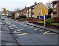 ST1782 : Zigzag yellow markings on Everest Avenue, Llanishen, Cardiff by Jaggery