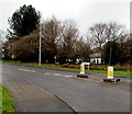 ST1783 : Cherry Orchard Road pedestrian refuge, Lisvane, Cardiff by Jaggery