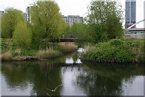 TQ3784 : Entrance to wetlands from River Lea (or Lee) by David Kemp