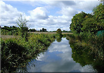 SO8785 : Canal and farmland north-east of Stourton, Staffordshire by Roger  Kidd
