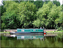 SO8685 : Narrowboat on the canal at Stourton, Staffordshire by Roger  Kidd