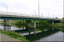 TQ3785 : Bridge carrying A12 slip road across River Lea (or Lee) by David Kemp