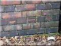 SK5940 : Bench mark, Carlton Road by Alan Murray-Rust