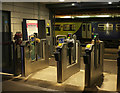 SE3055 : Barriers, Harrogate Station by Derek Harper