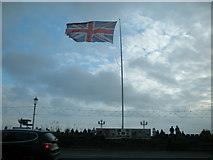TV6198 : Midday Christmas 2017 view of Union Flag at Eastbourne Bandstand by Adrian Diack