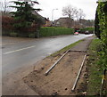 ST1882 : Pavement resurfacing in Lisvane, Cardiff by Jaggery