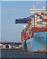TM2732 : Felixstowe: container ships by John Sutton