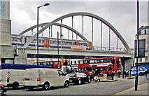 TQ3382 : Bridge over Brick Lane at Shoreditch High Street station, 2010 by Ben Brooksbank