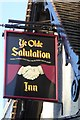 SK5739 : New sign on a very old pub - The Salutation by David Lally