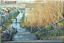 J3574 : Path, Titanic Quarter station, Belfast - December 2017(1) by Albert Bridge