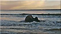 NH7358 : Rock in the bay, Rosemarkie by Julian Paren