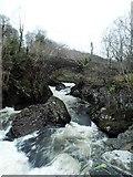 SH7357 : Cyfyng Falls by Anthony Parkes