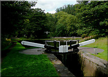 SO8685 : Stourton Junction with lock, Staffordshire by Roger  Kidd