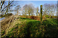 TF3399 : Waymarker post at Ings Farm by Ian S
