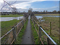 SP5798 : Footpath across the River Sence floodplain to Blaby by Mat Fascione