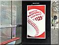 """J3474 : Norwegian Airlines """"Boston"""" advertisement, Belfast - Decemeber 2017(1) by Albert Bridge"""