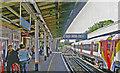 TQ0471 : Staines station, Up platform 2005 by Ben Brooksbank