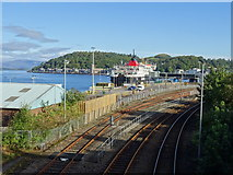NM8529 : Railway approach to Oban port by John M