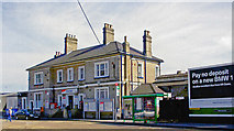 TQ0471 : Staines station, entrance 2005 by Ben Brooksbank