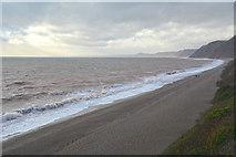 SY2187 : East Devon : Hooken Beach by Lewis Clarke