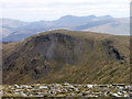 NN4949 : Flat stones at summit of Meall Buidhe by Trevor Littlewood