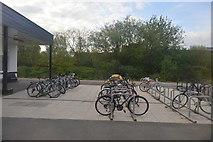 SU1585 : Bike park, Swindon Station by N Chadwick