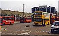 TQ3884 : Stratford station, bus yard 1997 by Ben Brooksbank