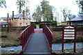 NS5320 : Footbridge over the Polcalk Burn by Billy McCrorie