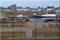 TQ2604 : View over fence into Shoreham Port by David Martin