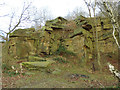 SE2333 : Old stone quarry in Post Hill woods (2) by Stephen Craven