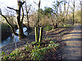 SE2332 : Redundant stile in Post Hill woods by Stephen Craven