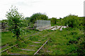 SJ8950 : Disused railway south-east of Milton, Stoke-on-Trent by Roger  Kidd